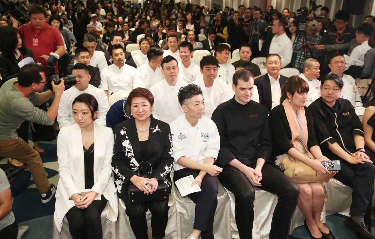 2018台北米其林/昨天在文華東方舉行,眾入選餐廳代表齊聚,等候宣布。記者陳正興...