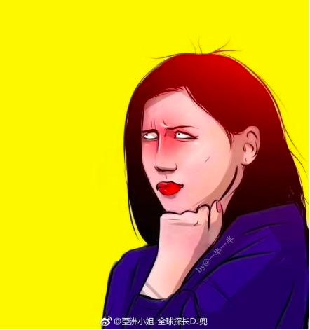 上海第一財經女記者梁相宜翻白眼被網友做成各種表情包。圖/取自微博