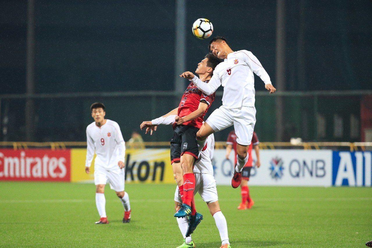 航源FC在主場以1:5不敵強敵北韓4.25SC。圖/中華足協提供