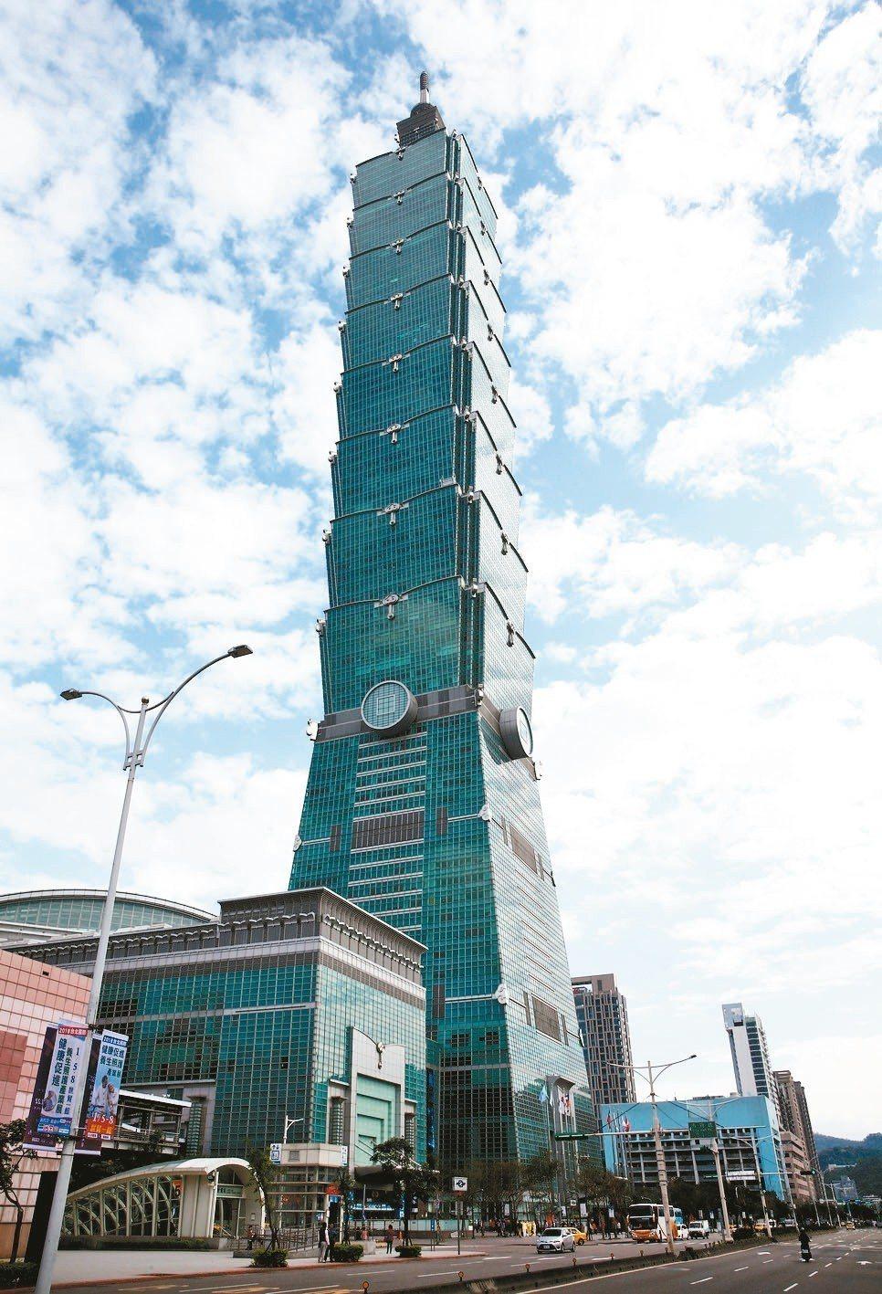 台北101大樓。 圖/聯合報系資料照片