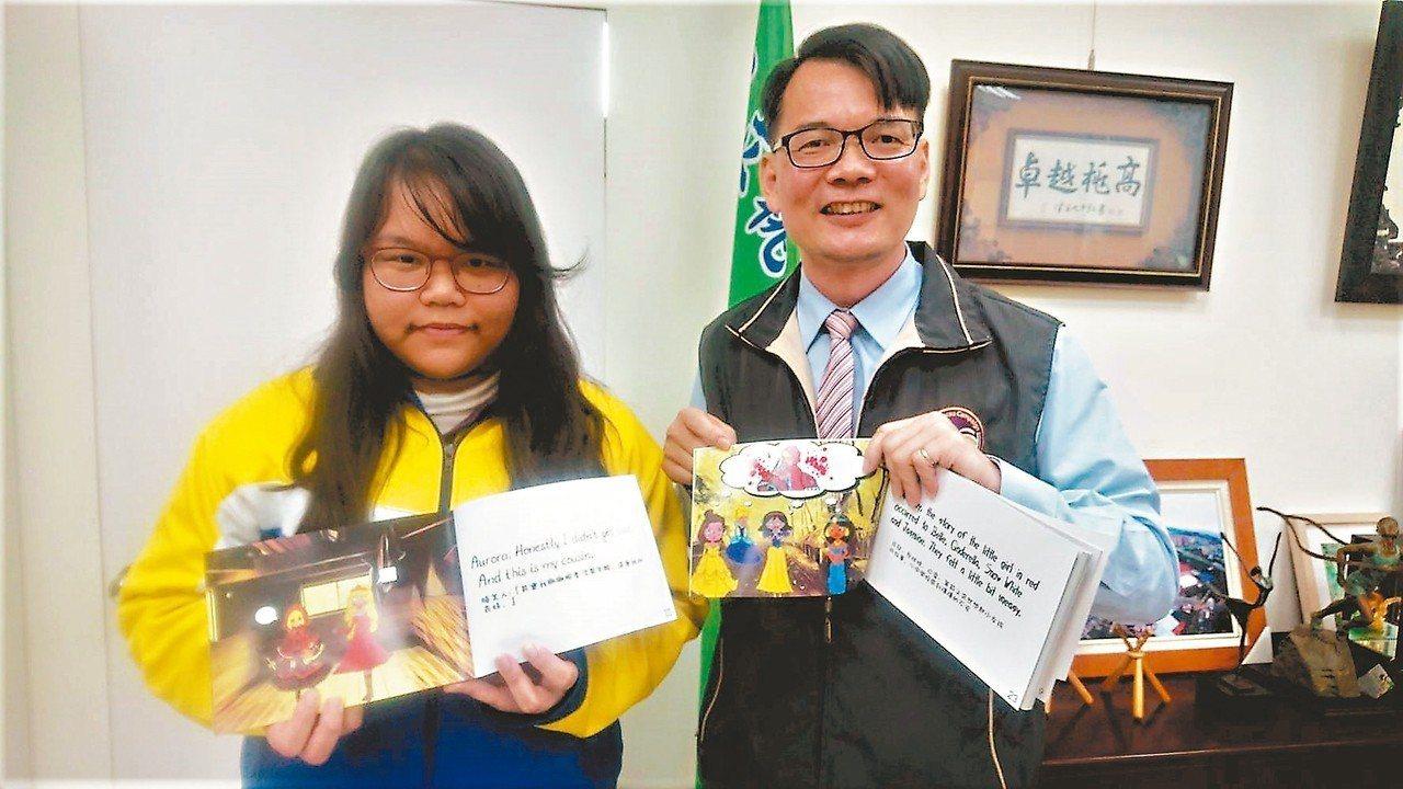 王宥云(左)代替罹癌的母親扛家計。 記者李京昇/攝影