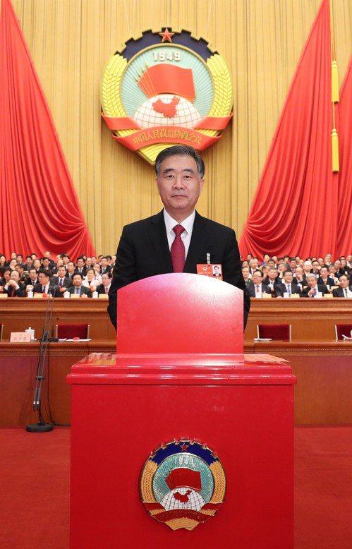 汪洋以百分百得票率當選中共全國政協主席。 新華社