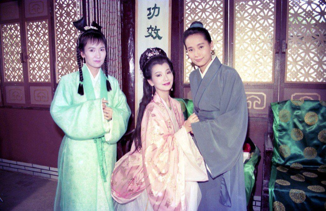 陳美琪(左起)、趙雅芝、葉童當年演出《新白娘子傳奇》。 圖/聯合報系資料照