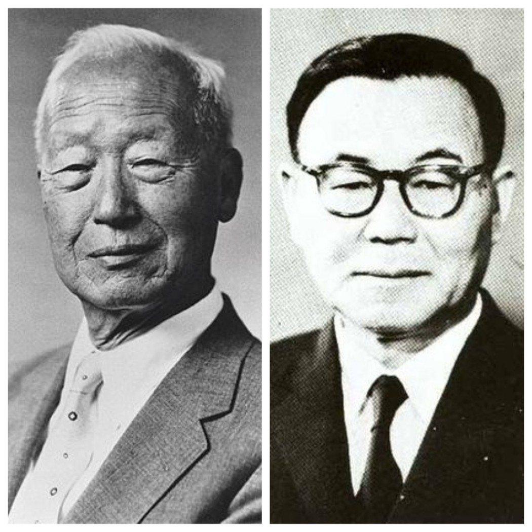 李承晚(左)與尹潽善。 圖/摘自網路