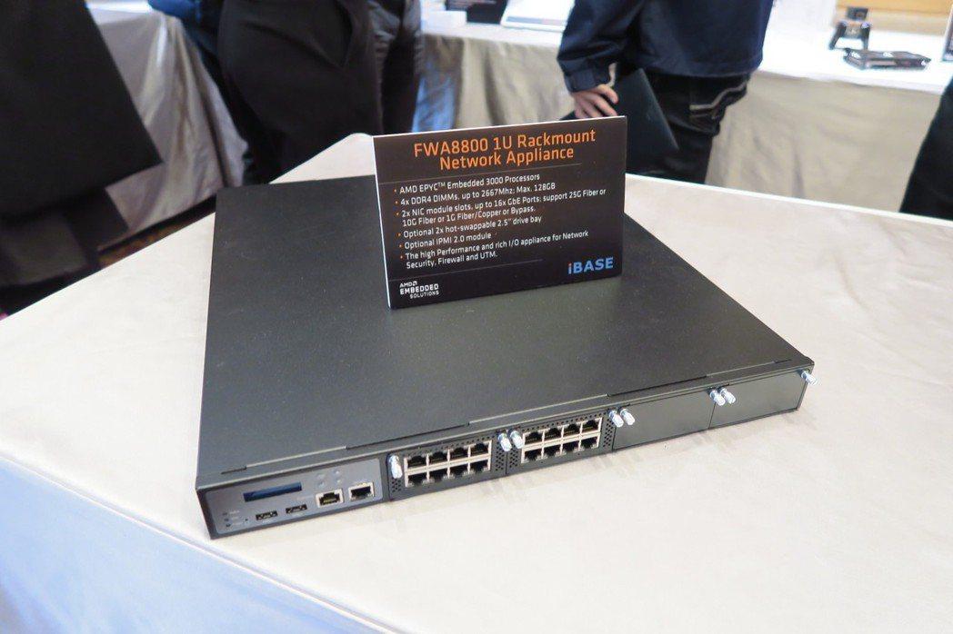 EPYC 3000處理器鎖定網路及儲存設備,圖為廣積網路設備新品。 彭子豪/攝影