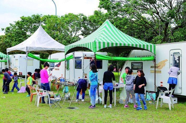 露營是現下正夯的戶外活動。(圖為華中露營場,攝影/楊智仁)