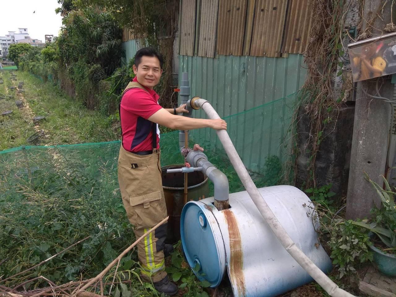 灌溉用水井使用轉接器材後的情形。記者劉星君/翻攝