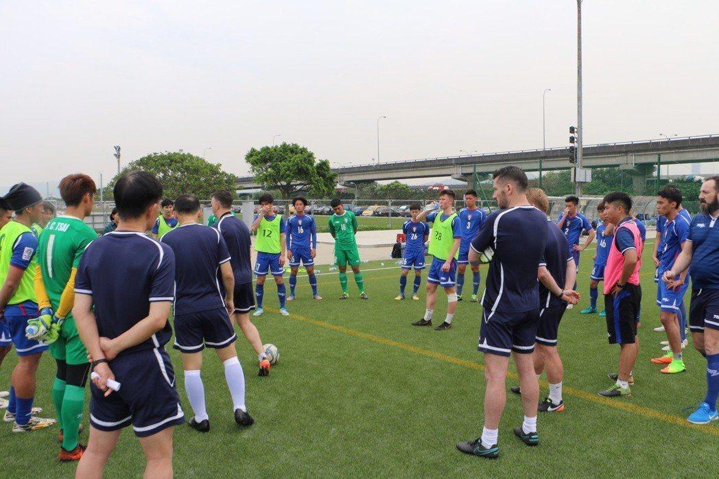 中華男足昨天展開亞洲盃資格賽最終戰第1階段集訓。圖/中華足球協會提供