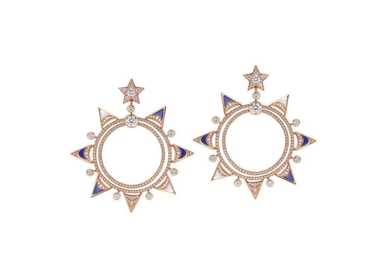 BVLGARI FESTA童年慶典系列The Gift 禮物造型頂級彩寶耳環,3...