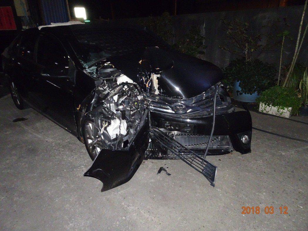 警方查出肇事者和車輛。記者鄭國樑/翻攝