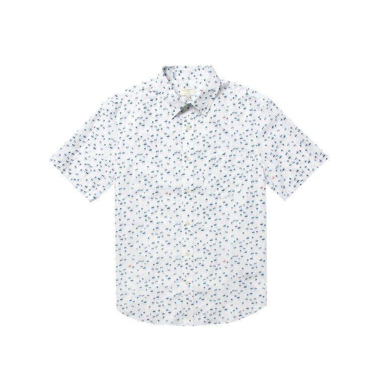 男裝紅鶴剪影襯衫。圖/Club Monaco提供