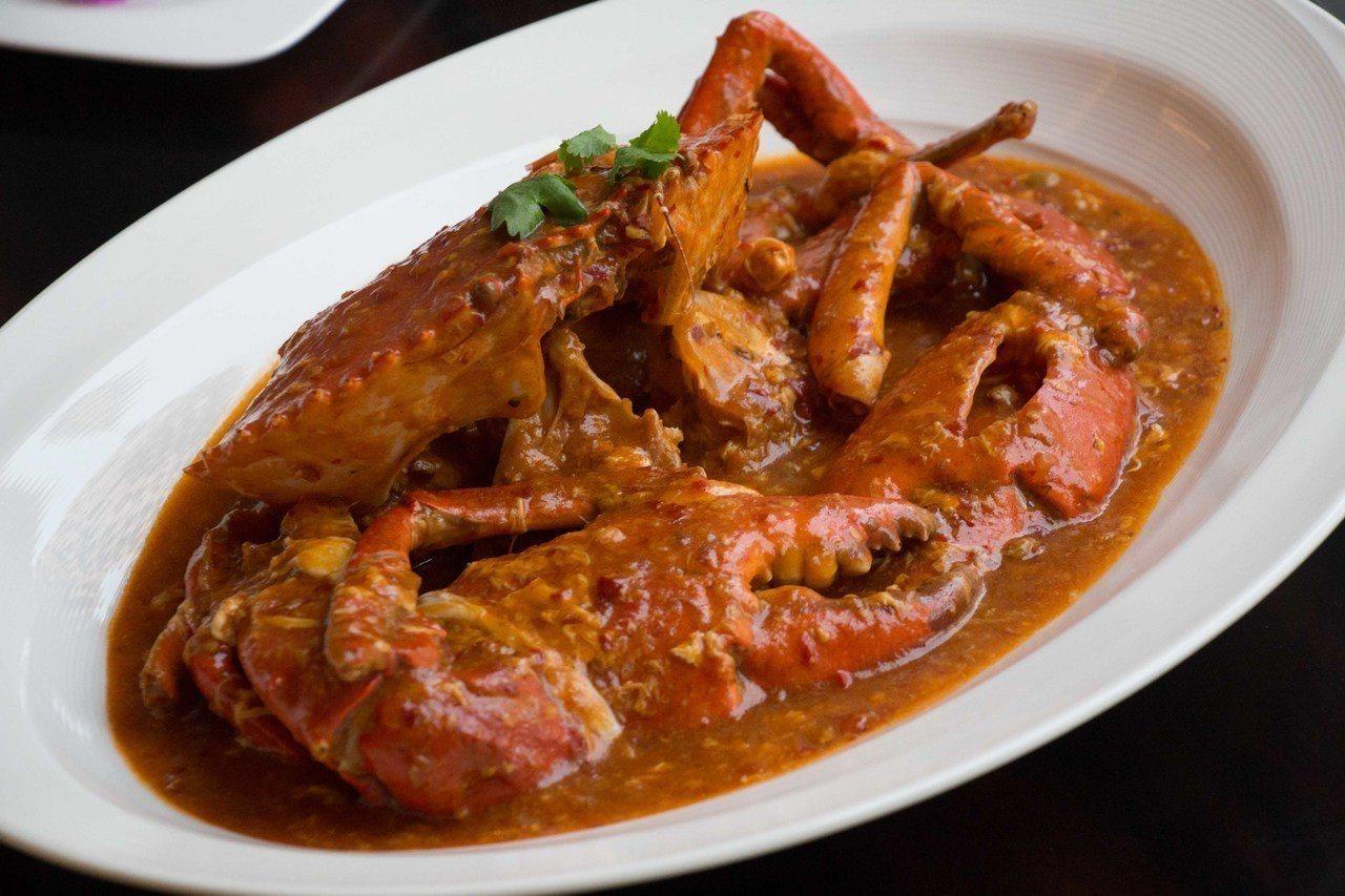 新加坡辣椒炒蟹。圖/台北美福大飯店提供