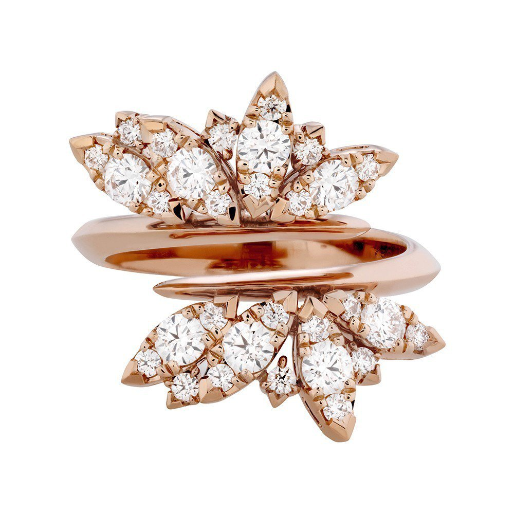Feathers 鑽石戒指,鑽石總重0.55克拉,27萬5,000。圖/ Hea...