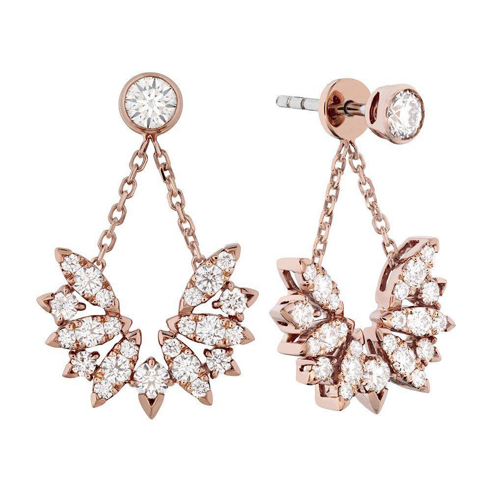 Bird鑽石耳環,鑽石總重1.2克拉,28萬8,000元。圖/ Hearts o...