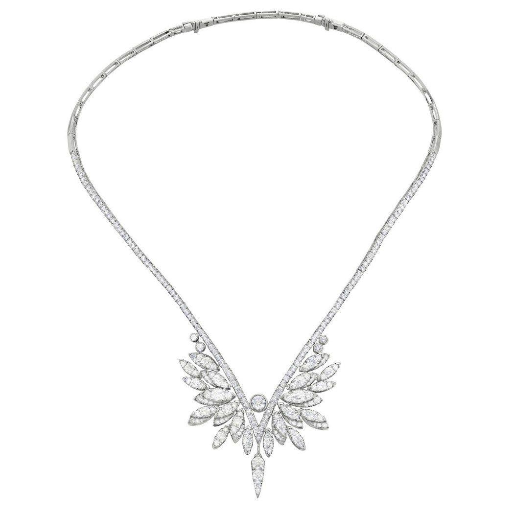 Crest鑽石項鍊,鑽石總重9.5克拉,217萬元。圖/ Hearts on F...