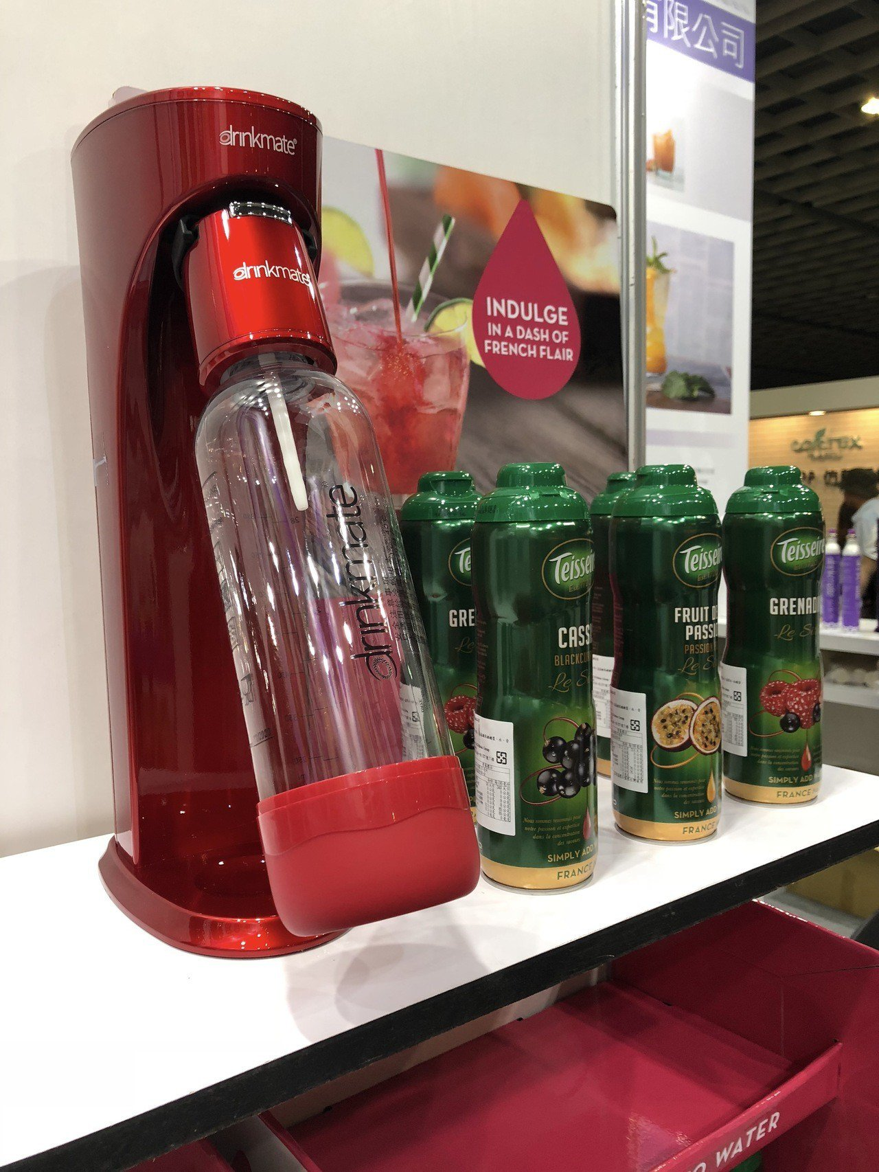 可直接打調味水的美國氣泡水機drinkmate Rhino,展場優惠價2,980...