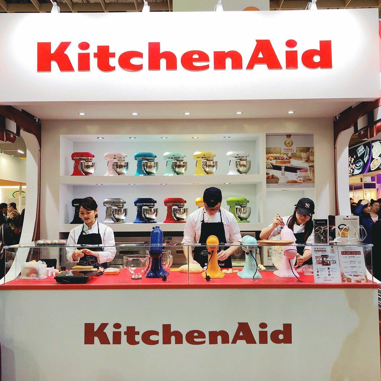 美國精品廚電品牌KitchenAid今年首度參展。記者黃筱晴/攝影