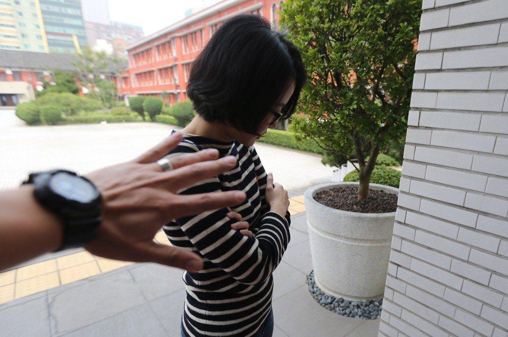 女助理性騷擾意象圖。記者許正宏/攝影