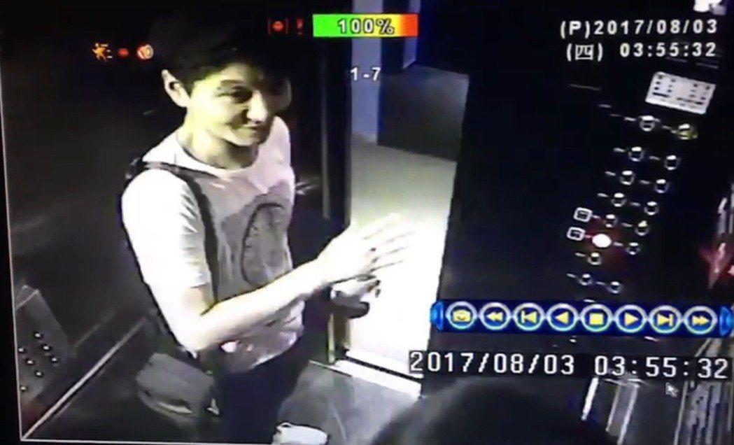 南韓國際通緝犯趙準基,曾入住西門町酒店,還與酒店人員有說有笑。 記者蕭雅娟/翻攝