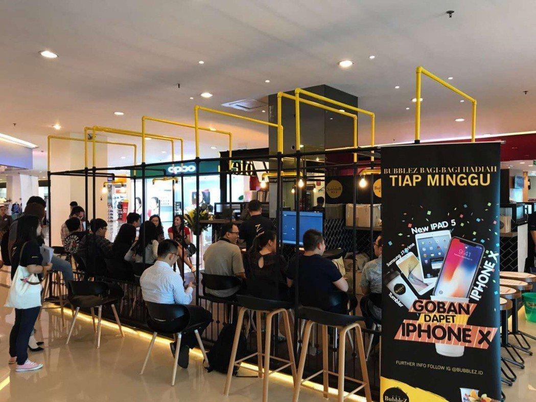 台灣Bubble Z 進駐印尼雅加達商場。