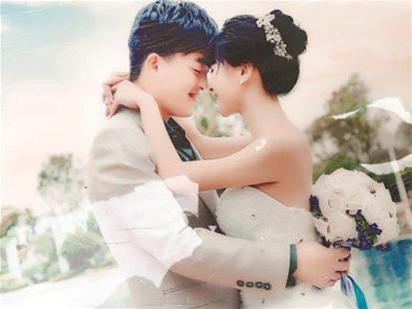 鄭夢婷(右)結婚照。圖/取自《澎湃新聞》
