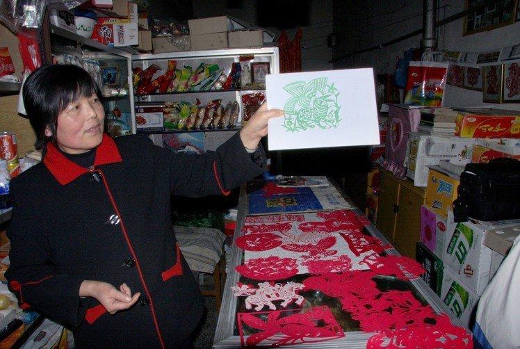 陝西大娘的剪紙,讓楊士毅放下競爭的心。圖/楊士毅提供