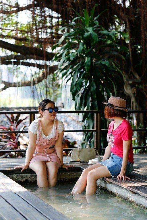 温泉レストラン「少帥禅園」は、台湾だけでなく中国や香港の人々にも人気のスポットで...