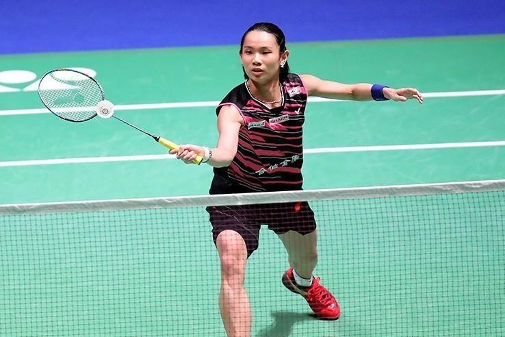 戴資穎直落二拍落泰國好手布莎南。圖/Badminton photo提供