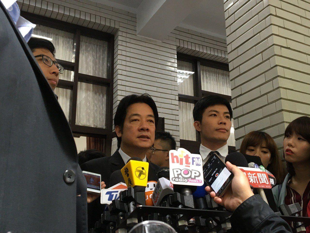 行政院長賴清德今天在立法院接受媒體提問。記者周佑政/攝影