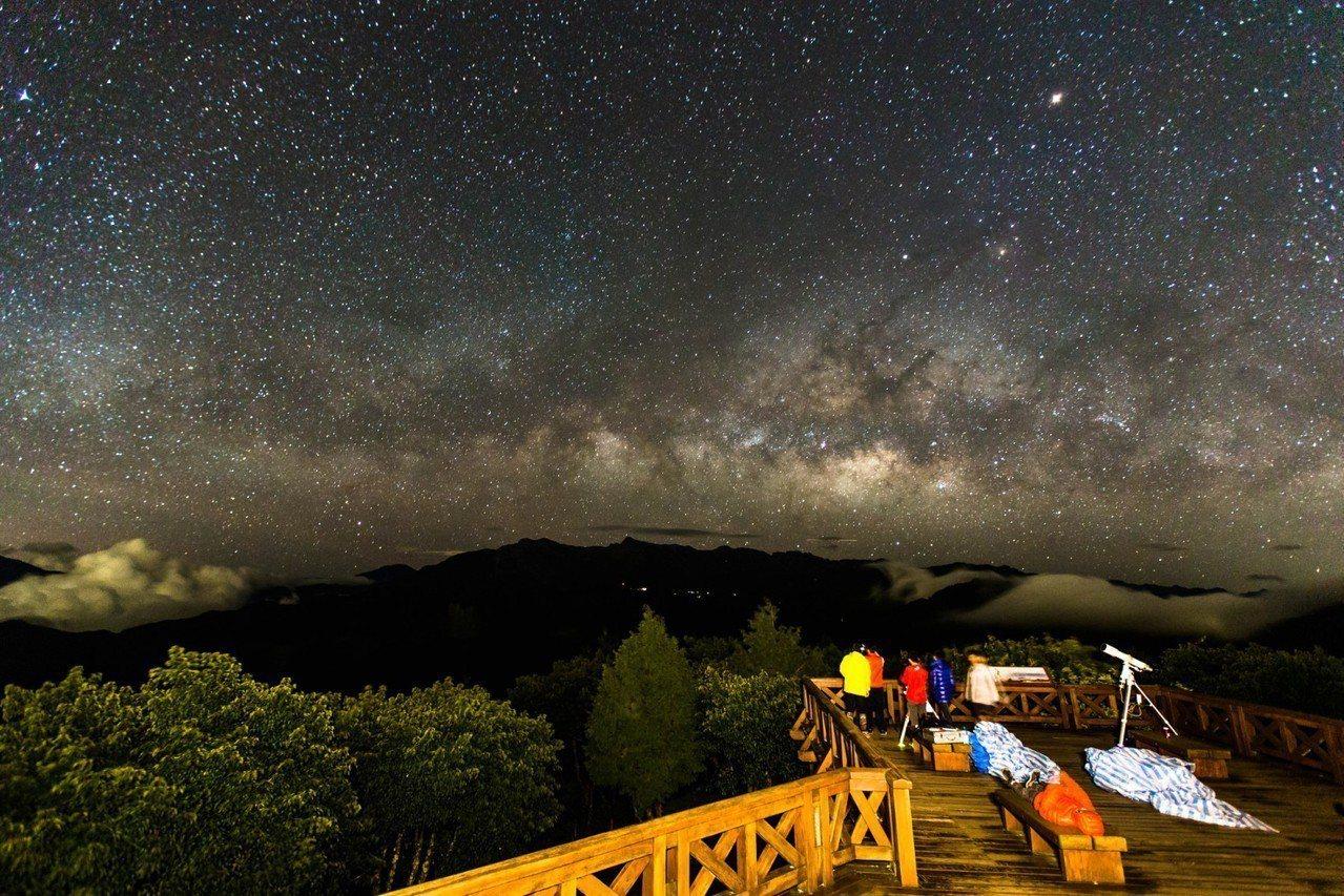 阿里山小笠原的銀河星空。圖/山田文介提供