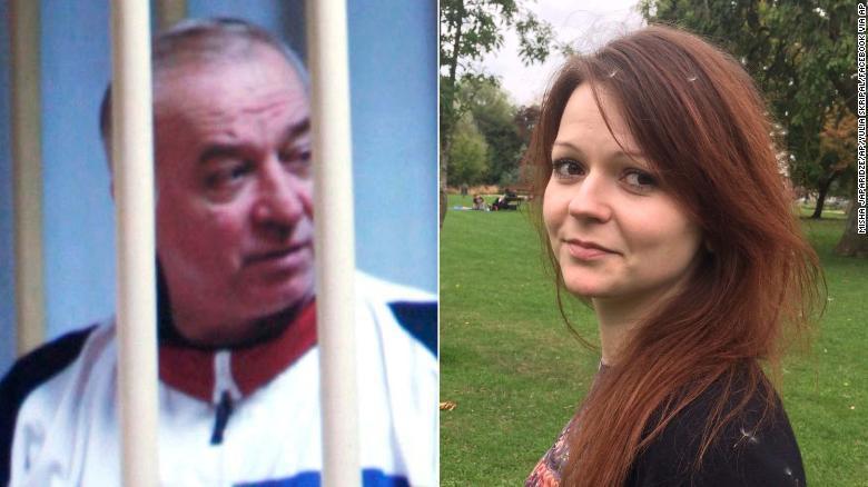 遭毒殺的俄國前雙重間諜史柯里帕與女兒尤莉亞。美聯社