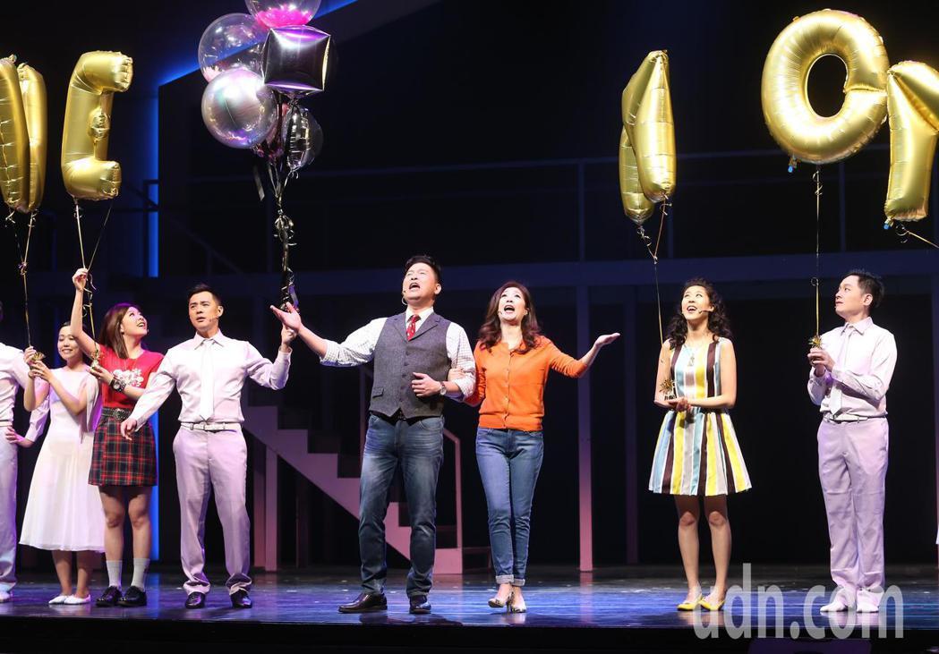 舞台劇「愛呀,我的媽」下午進行總彩排,曾國城、黃嘉千、竇智孔、關詩敏、Erika...