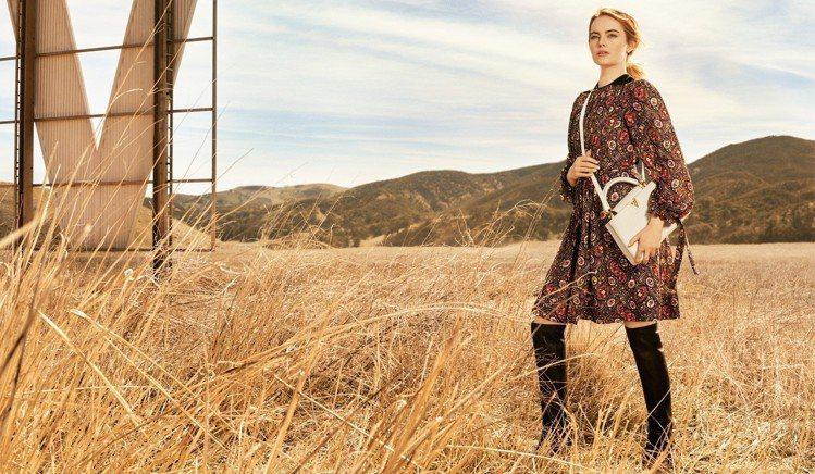 路易威登最新一波形象片釋出,是艾瑪史東作為時尚大使的首部作品。圖/LV提供
