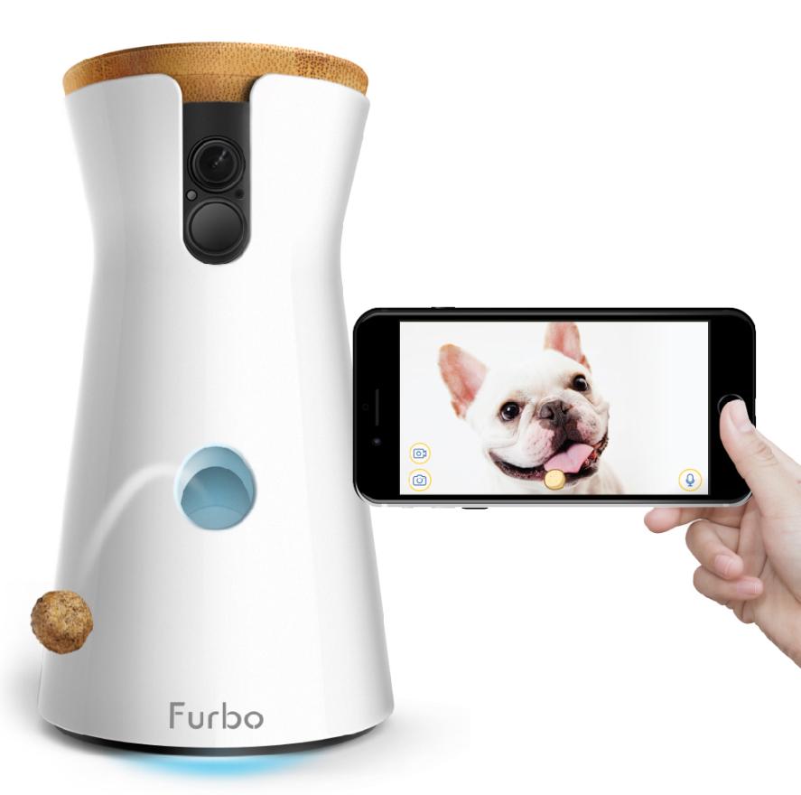 看好寵物商機,momo購物網引進智能型商品,圖為Furbo狗狗攝影機。圖/mom...
