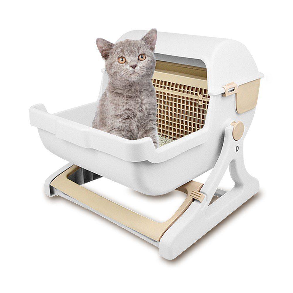 貓咪旋轉便盆,市價2,499元、特價999元。圖/momo摩天商城提供
