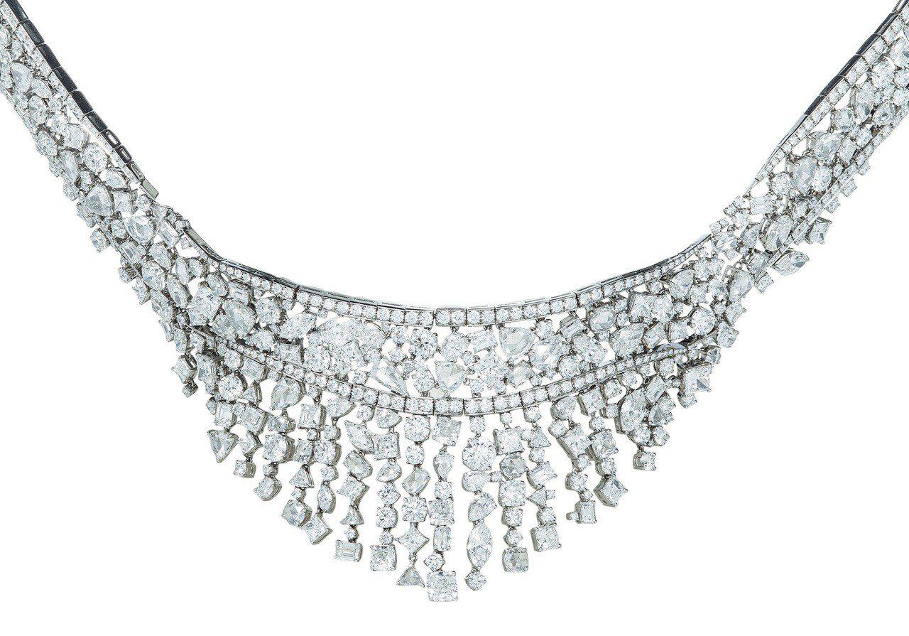 Tiffany混合式切割鑽石頸鍊,4,084萬元。圖/Tiffany提供