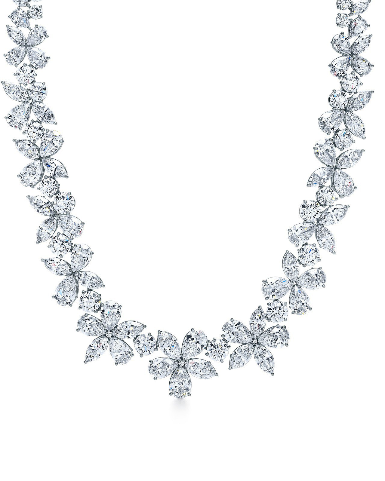 Tiffany Victoria 混合式切割鑽石項鍊,889萬5,000元。圖/...