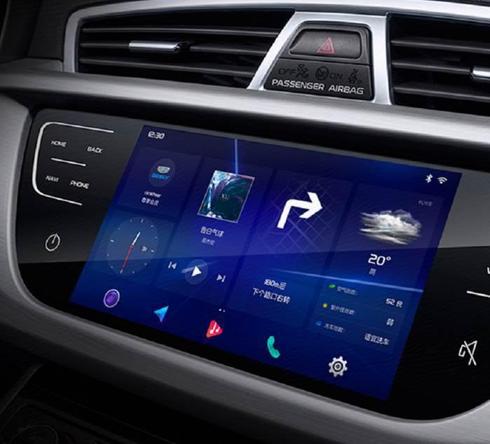 智能互聯SUV-2018款博越車載螢幕。京東集團