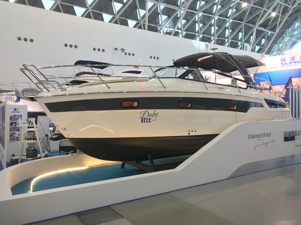 亞果遊艇集團代理德國品牌Bavaria,於南館S30展出。 洪紹晏/攝影