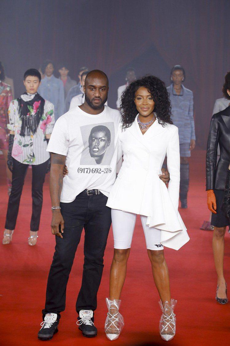 男裝起家的Off-White設計師Virgil Abloh (左)女裝設計也深受...
