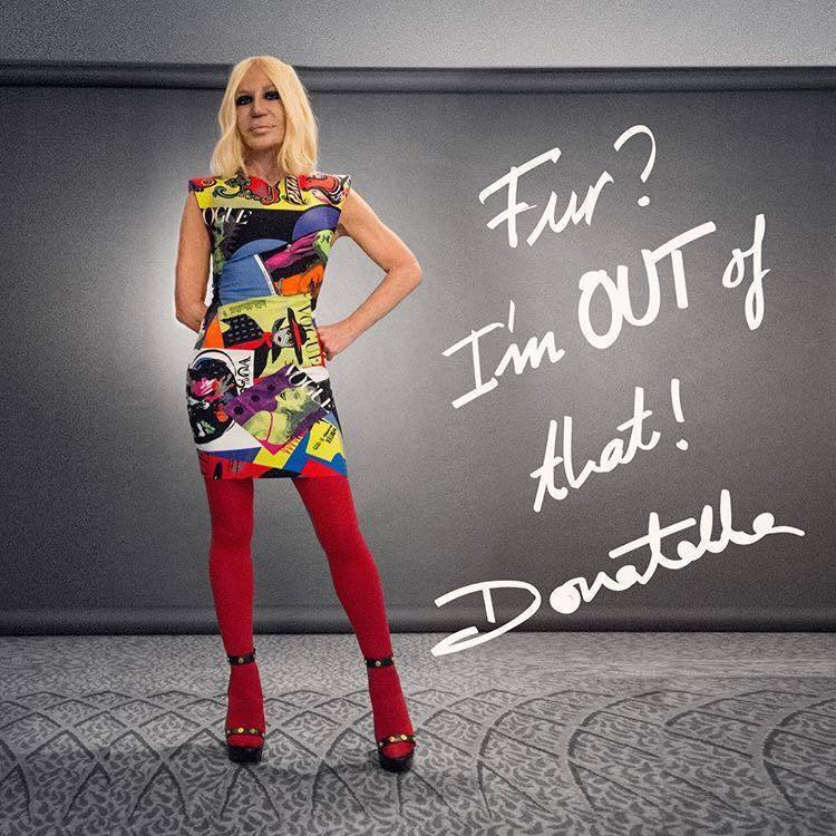 日前宣佈不再使用動物皮毛獲得廣泛迴響的Donatella Versace則將獲得...