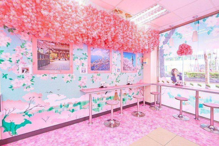 東京櫻花季主題店—崇光門市。圖/7-ELEVEN提供
