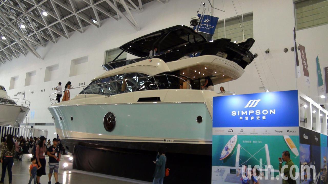 2018台灣國際遊艇展共展出65艘船艇,讓民眾大開眼界。記者王昭月/攝影