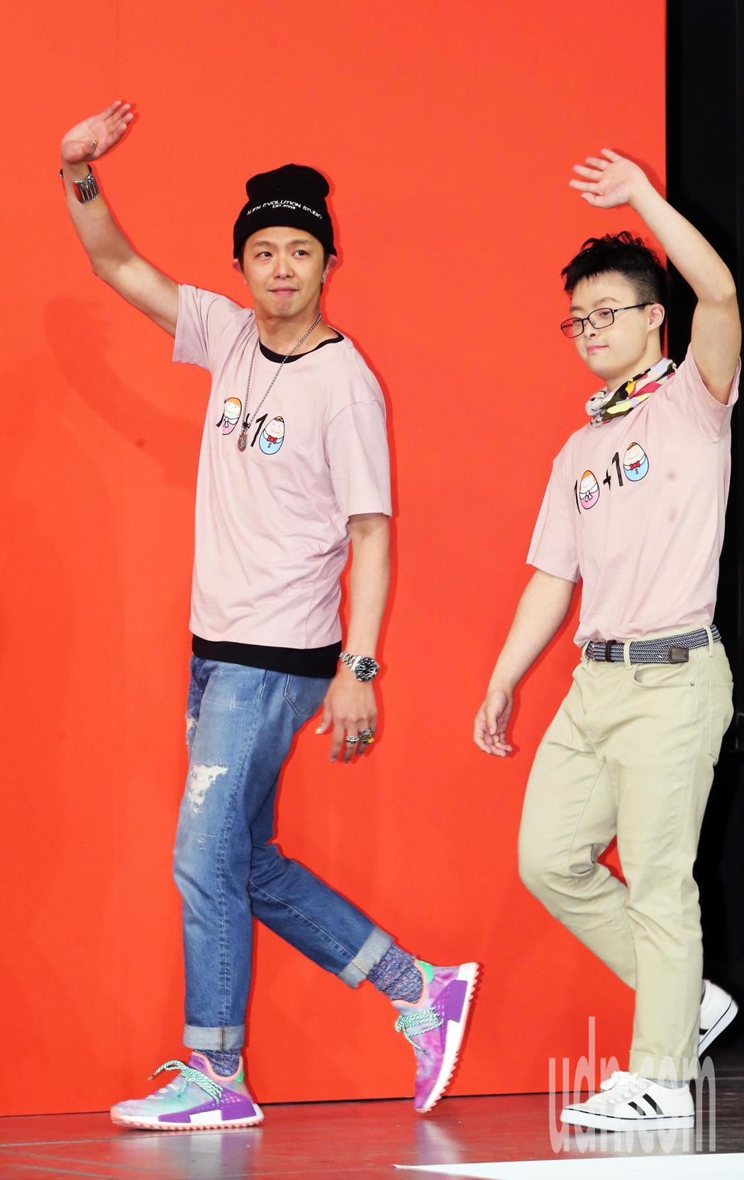 小鬼黃鴻升下午出席唐氏症基金會成立20週年慶祝活動。記者徐兆玄/攝影