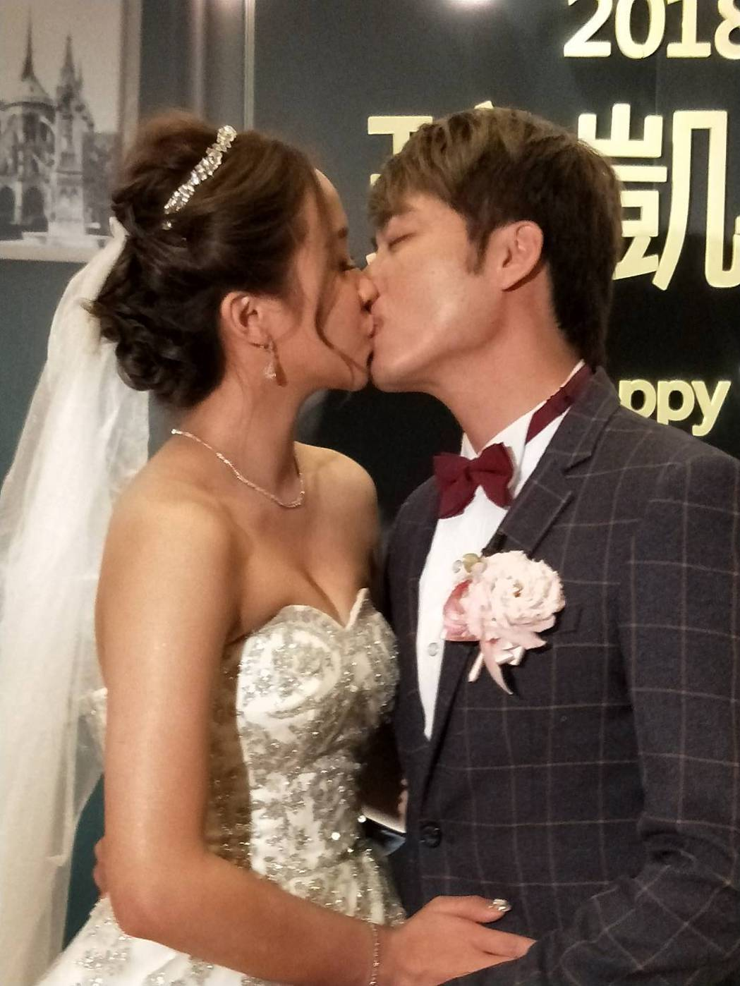 「小賀」導演高琮凱娶同劇演員賴慧如,17日補辦婚禮。圖/金熙提供