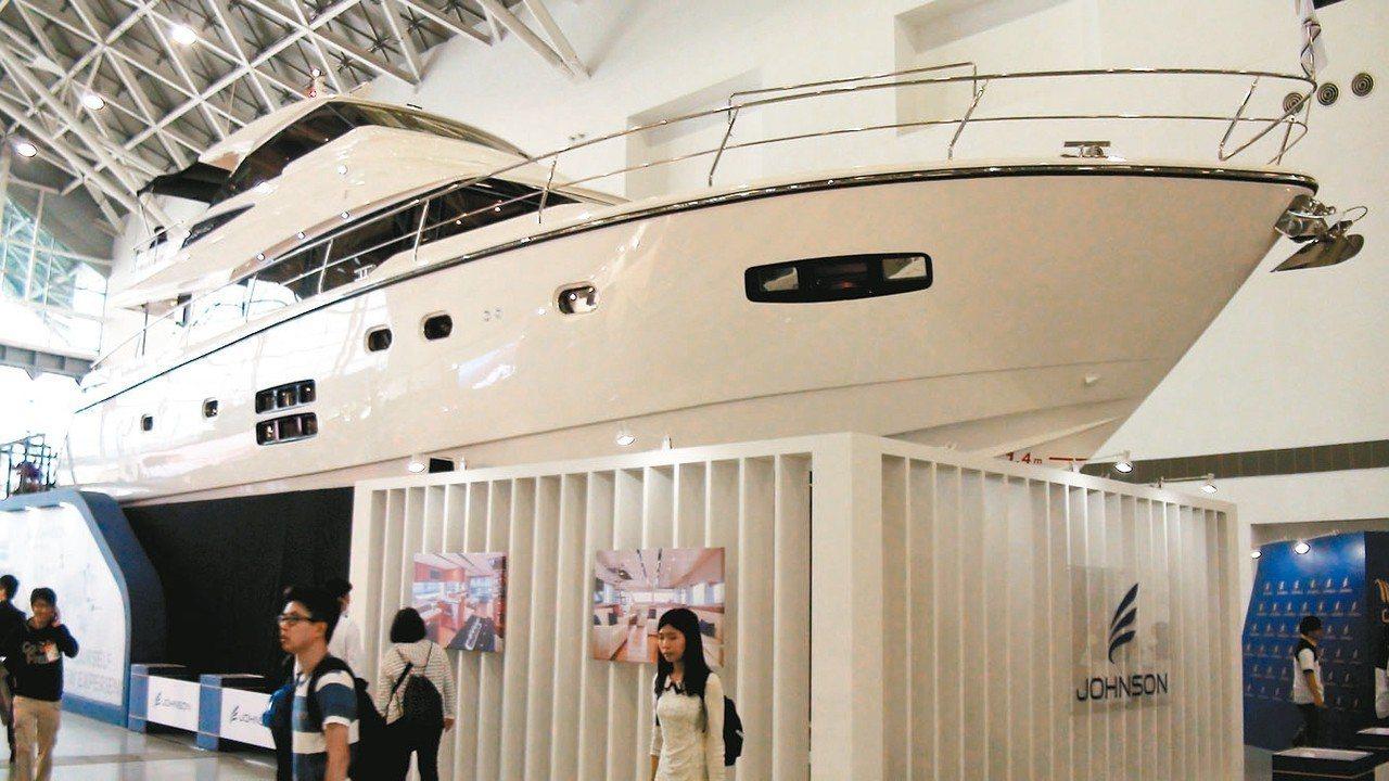 2018台灣國際遊艇展才揭幕兩天,成交額已近3億元。 記者王昭月/攝影