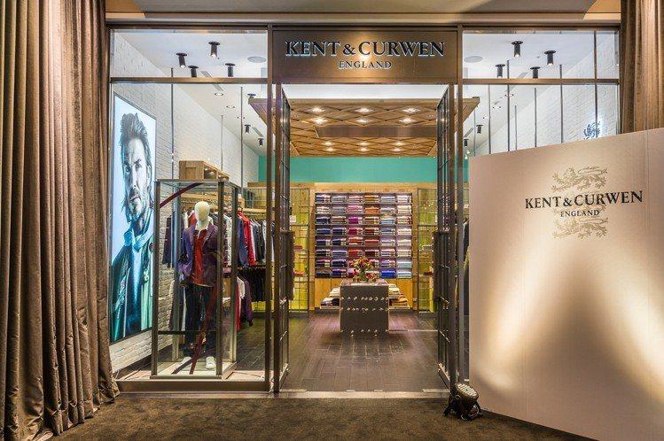 英國男裝品牌Kent & Curwen進駐誠品信義,打造全台第一家概念店。圖/K...