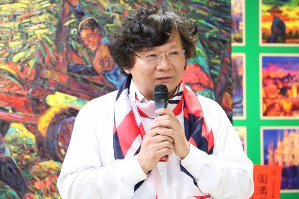 江添富說,最重要的創作能量是來自於土地。圖/新港文教基金會提供