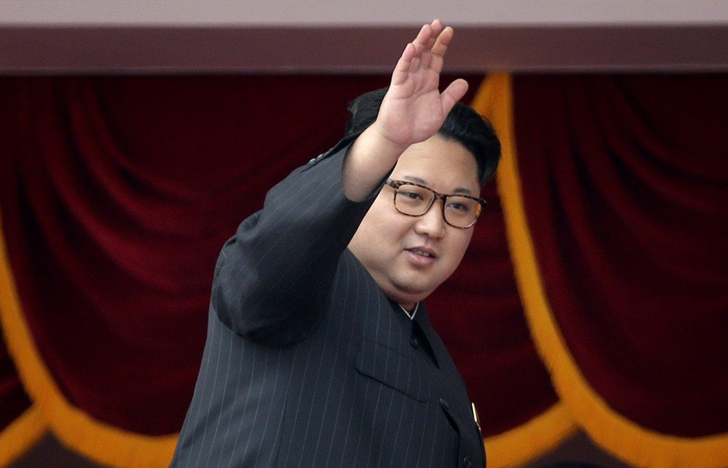 北韓領導人金正恩(如圖)祝賀習近平連任中國國家主席。美聯社
