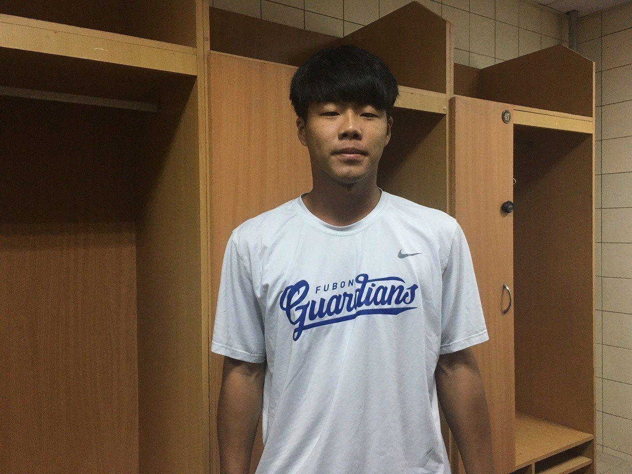 悍將隊21歲投手彭世杰。記者葉姵妤/攝影